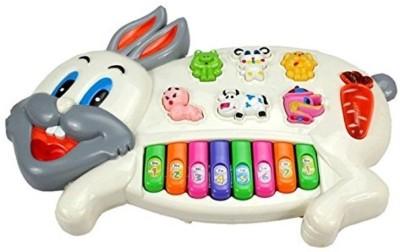 Rey Hawk Musical Rabbit Educational Piano Keyboard Toy(Multicolor)