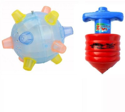 Shop & Shoppee Combo Of Multicolour Bounce Ball And Lazer Top