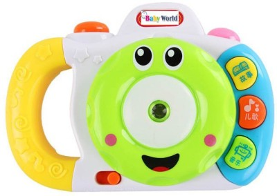 Baby World Non Toxic Projection Camera(Multicolor)