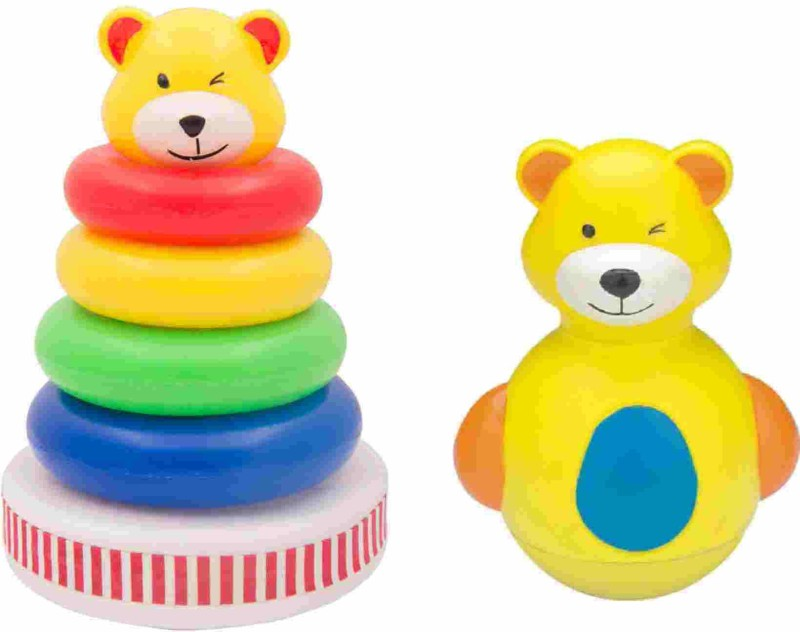 Funworld Musical Stack ring with roly poly teddy(Yellow)