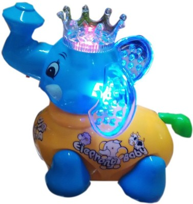Turban Toys Cute Clever Elephant with Lights and Music