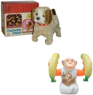 Tara Lifestyle Jumping Musical Monkey and Puppy