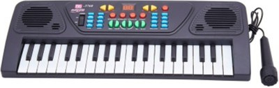 Dinoimpex Dino 37 Keys Musical Electronic Keyboard Organ With Mic Melody Mixing(Black)