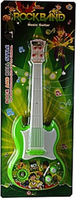 Turban Toys Battery Operated Ben10 Rockband Music Guitar with light and music``