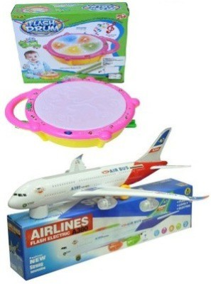 Shop & Shoppee Combo of Musical Airbus along with Flash Drum