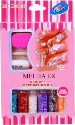 MEI JIA ER NAIL ART DECORTION KIT (STICK TYPE) WITH GLUE STICK(MULTI COLOR)