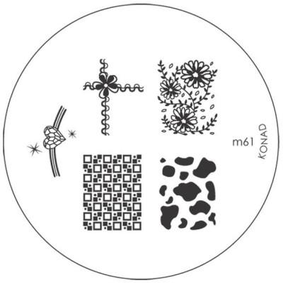 Konad Stamping Image Plate M61