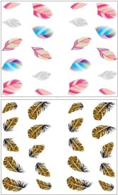 Jenna Manicure Water Transfer Nail Art Decals Stickers- Sapphire Series NR-013(White)
