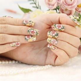 Magideal Floral False Nails Stickers