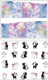 Jenna Manicure Water Transfer Nail Art Decals Stickers- Sapphire Series NR-153(White)