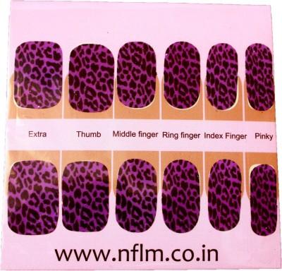 NFLM Designer Nailwear Neon-leopard Print