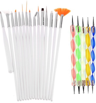 Lifestyle-You 20pcs Nail Art Design Dotting Painting Drawing UV Polish Brush Pen Tools Set Kit