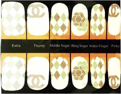 NFLM Nail art Sticker Rohmbus Print