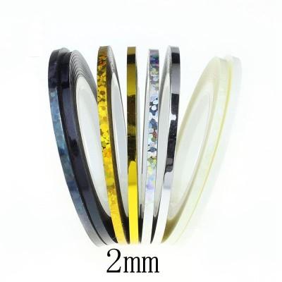 Ski 2mm Nail Art Striping Rolls Stickers
