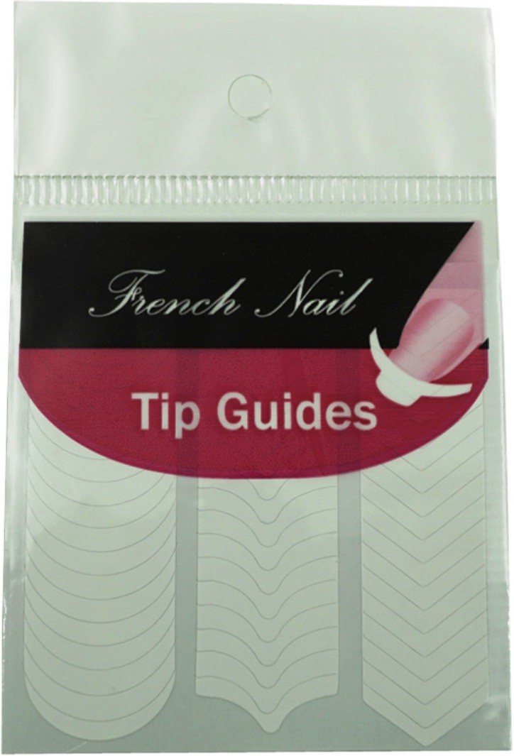 SENECIO� DIY French Tip Guide Manicure Nail Art Decorations Form Fringe Sticker Stencil Style-2(white)
