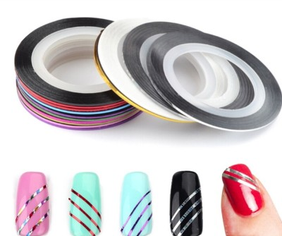Looks United 15 X Mixed Color Nail Art Striping Rolls Tape Nail Sticker Nail Tip Decoration