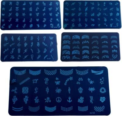 Savni Nails art 5 large stamp Plate(blue)