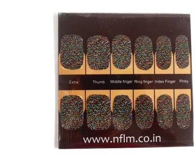 NFLM Designer Nailwear Pastel Spiral Print