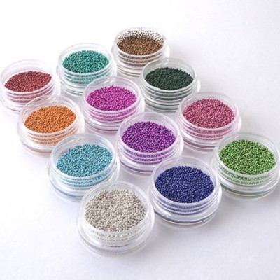 Glamdoll 12 Colors Nail Art Micro Caviar Beads