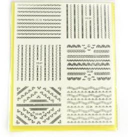 SAVNI big pack of nail art stickers t28