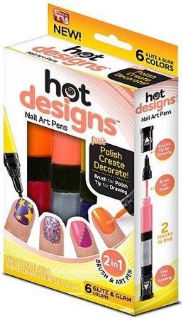 Shopo 2 in 1 Hot Designs Polish Pens With 6 Glitz & Glam Colors(Multicolor)