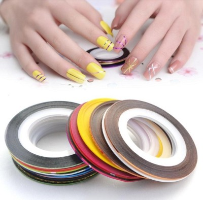 Looks United 30 X Random Color Nail Art Striping Rolls Tape Nail Sticker Nail Tip Decoration