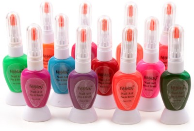 Foolzy Pack Of 12 Towway Nail Art Polish With Pen