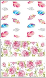 Jenna Manicure Water Transfer Nail Art Decals Stickers- Sapphire Series NR-009(White)