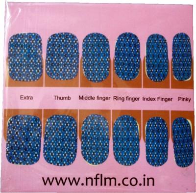 NFLM Designer Nailwear Green Floral Print