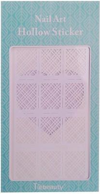 Nimble House Nimble House (TM) Design Manicure Nail Art Vinyls Stencil Stickers, Silver laser (12 guides per Sheet)(blue)