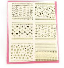 SPM big pack nail art stickers 20(yellow)