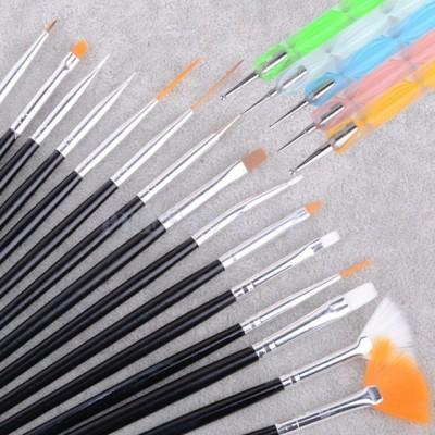 Foolzy 20pcs Nail Art Design Dotting Painting Drawing UV Polish Brush Pen Manicure Pedicure Set Kit