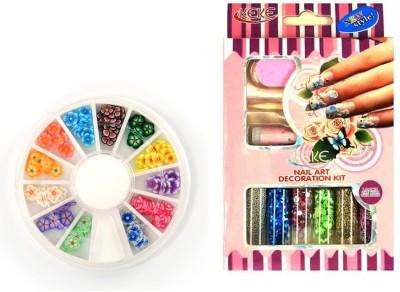 Iris 7 Nail Art Decoration kit and Pastings Combo