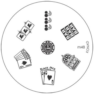 Konad Stamping Image Plate M48