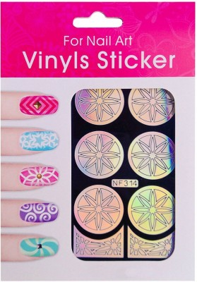 Nimble House Nimble House (TM) 9 Designs 2 Colors Nail Art Vinyls Template Sticker for Stamping Nail Design(1 Sheet, 12 Stencils- 3 Tips Template + 9 Full Nail DecalsNimble House (TM) 9 Designs 2 Colors Nail Art Vinyls Template Sticker for Stamping Nail Design(Pink)