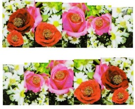 SENECIO™ Multicolor Rose Floral Lace Full Wraps Nail Art Manicure Decals Water Transfer Stickers 1 Sheet