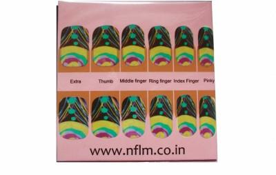 NFLM Designer Nailwear Peacock Print