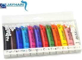 Jayhari 12 Colors Painting Acrylic 3D Nail Art Paint Tube