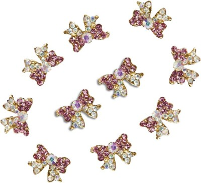 TopNail 10 Pcs Butterfly Shape 3D Tools Crystal Rhinestone Glitters For Nail Art Decorations