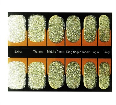 NFLM nail art sticker Silver Giltter
