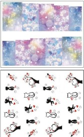 Jenna Manicure Water Transfer Nail Art Decals Stickers- Sapphire Series NR-154(White)