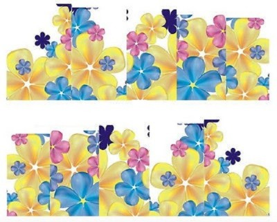 Azzuro Manicure Water Transfer Nail Art Decals Stickers(Yellow Floral)