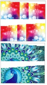 Jenna Manicure Water Transfer Nail Art Decals Stickers- Sapphire Series NR-234(Multicolor)