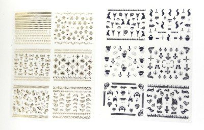 99DailyDeals 99nail art stamp stickers(Multi)