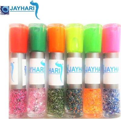 Jayhari 12 Shades 6 Two Way Nail Art Polish with Glitter