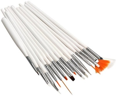 Looks United 15pcs Nail Art Design Dotting Painting Drawing UV Polish Brush Pen Tools Set Kit