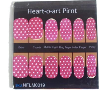 NFLM Designer Nailwear Heart-O- Art