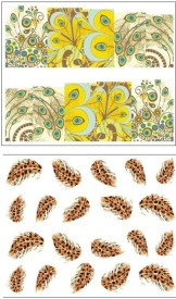 Jenna Manicure Water Transfer Nail Art Decals Stickers- Sapphire Series NR-105(Multicolor)