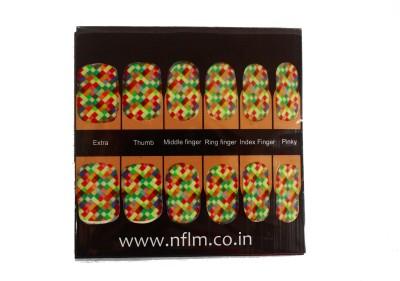 NFLM Designer Nailwear Coloured Checker Print