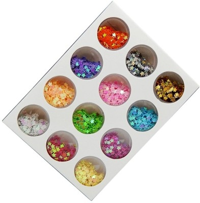 Atanands 12 Mix Pattern Rhinestones Nail Art